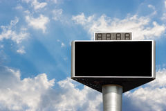 Blank advertising billboard isolated on sky Stock Photography