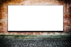 Blank Advertising Billboard on the Street Royalty Free Stock Images