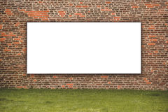 Blank Advertising Billboard on the Street Royalty Free Stock Image