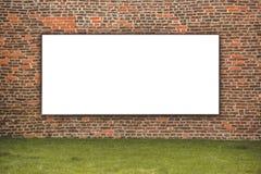 Blank Advertising Billboard on the Street Royalty Free Stock Image