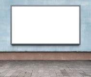 Blank advertising billboard Royalty Free Stock Images