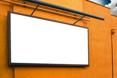 Blank advertising billboard on supermarket store exterior wall Royalty Free Stock Photos