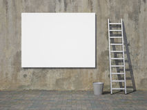 Blank advertising billboard on wall Stock Photography