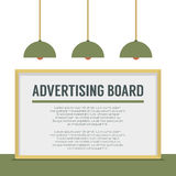 Blank Advertising Billboard On White Wall Stock Photography