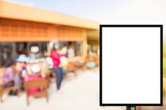 Blank advertising billboard or wide screen television with blurr. Ed background, commercial and marketing concept, copy space for text or media content Stock Image