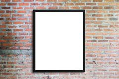 Blank advertising billboard or wide screen television with old v. Intage buildings exterior brick wall background, commercial and marketing concept, copy space Stock Images