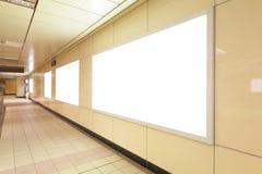 Blank advertising billboards Stock Photos