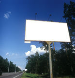 Blank advertising board. Royalty Free Stock Image
