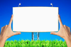 Blank advertising board Stock Image