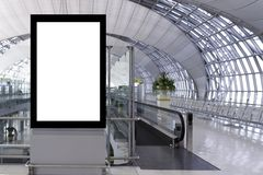 Blank advertising board royalty free stock images