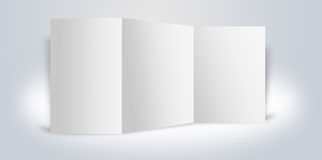 Blank advertising boards stand Royalty Free Stock Image