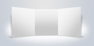 Blank advertising boards stand. Interior Uneven diffuse lighting version. Design component Stock Illustration