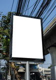 Blank Advertising Mupi Stock Photography