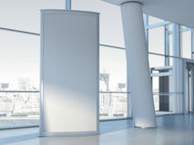 Blank advertising panel. 3d rendering stock images