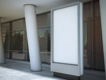 Blank advertising panel. 3d rendering Royalty Free Stock Image