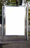 Blank advertising panel Royalty Free Stock Photo
