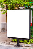 Blank advertising panel on a street Stock Photography