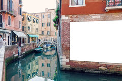 Blank advertising poster in Venice Stock Photos