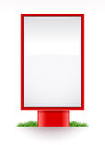 Blank advertising stand citylight. Illustration, isolated on white background Royalty Free Stock Photos