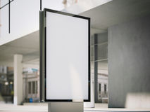 Blank advertising stand on office street. 3d rendering Stock Photos