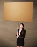 blank affärskvinnapapp royaltyfria bilder
