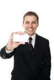 blank affärsmankortholding Arkivfoton