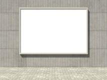 Blank affischtavla på betongväggen royaltyfri illustrationer