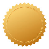 Blank agreement gold seal vector illustration