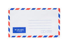 Blank airmail envelope isolated. With text Royalty Free Stock Images
