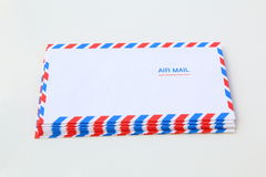 Blank airmail envelope stack Stock Images