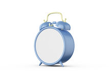 Blank Alarm Clock. Blue old style blank alarm clock, isolated on white background Stock Photography