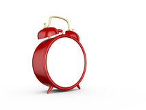 Blank Alarm Clock. Red old style blank alarm clock, isolated on white background Royalty Free Stock Photography