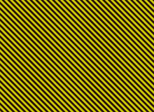 Blank alternation yellow and black diagonal stripes Stock Images