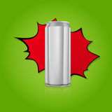Blank aluminium can. Royalty Free Stock Images