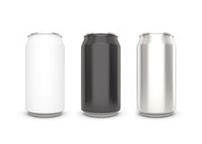 Blank aluminum can on white background. Royalty Free Stock Photos