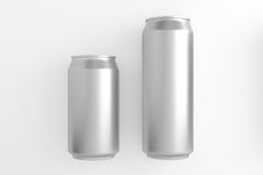 Blank aluminum can on white background. Royalty Free Stock Photography