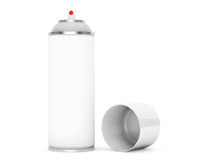 Blank Aluminum Spray Can Royalty Free Stock Photo