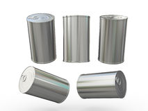Blank aluminum tin can packaging with pull tab, clipping path in Stock Image