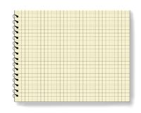 blank anmärkningsanteckningsbokblocket Arkivbild