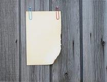 Blank anmärkningspapper Arkivfoto