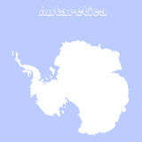 Blank Antarctica map. Flat map illustration for website, design, cover, annual reports, infographics stock illustration