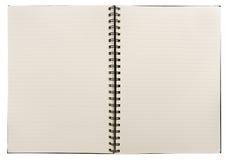 blank anteckningsbok arkivbild