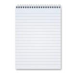 blank anteckningsbok Royaltyfri Foto