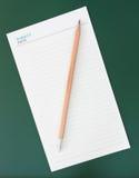 blank anteckningsbokblyertspenna Fotografering för Bildbyråer
