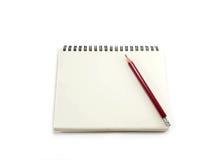 blank anteckningsbokblyertspennan Royaltyfri Foto