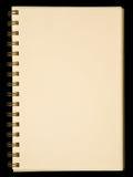 blank anteckningsboksidayellow Royaltyfri Foto