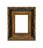 Blank Antique Golden Frame Isolated Royalty Free Stock Photos
