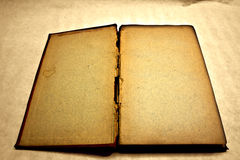 Blank and antique open book. (vintage version Stock Photos