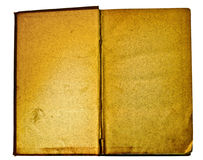 Blank and antique open book isolated on white. Blank and antique open book, isolated on white background royalty free stock photos