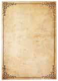Blank Antique Paper With Vintage Border Royalty Free Stock Image